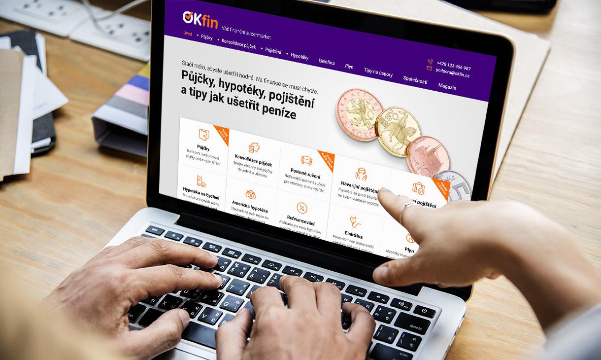 Náhled webových stránek www.okfin.cz