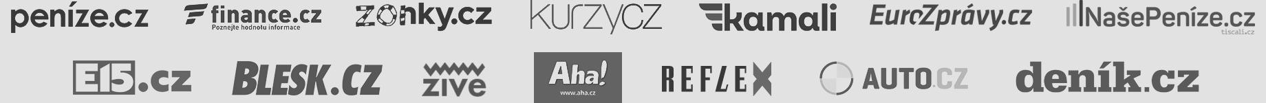 Napsali o nás: Peníze.cz, Finance.cz, Zonky.cz, Kurzy.cz, Kamali.cz, EuroZprávy.cz, NašePeníze.cz