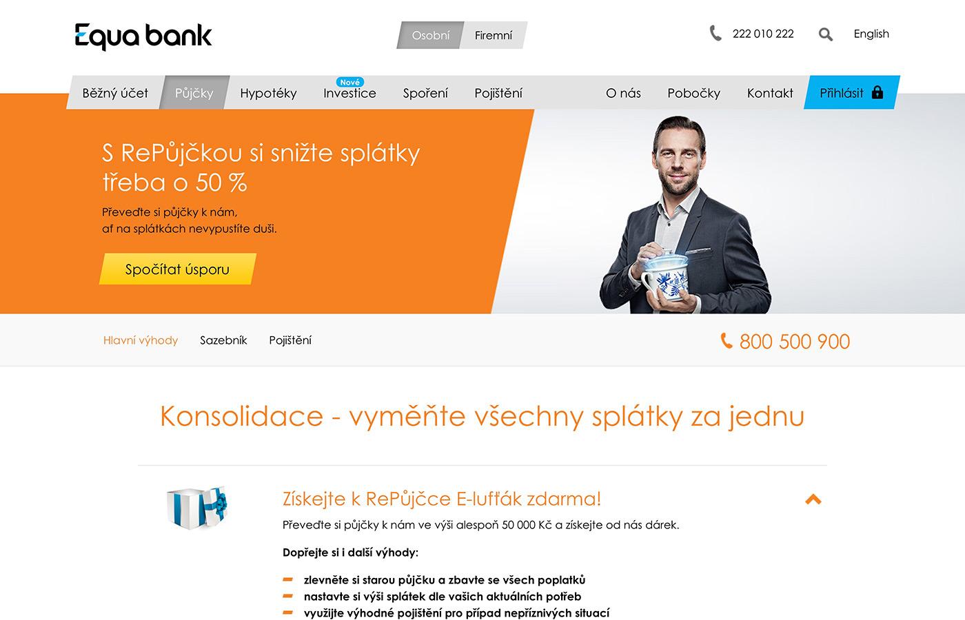 Náhled webových stránek www.equabank.cz/pujcky/konsolidace-pujcka