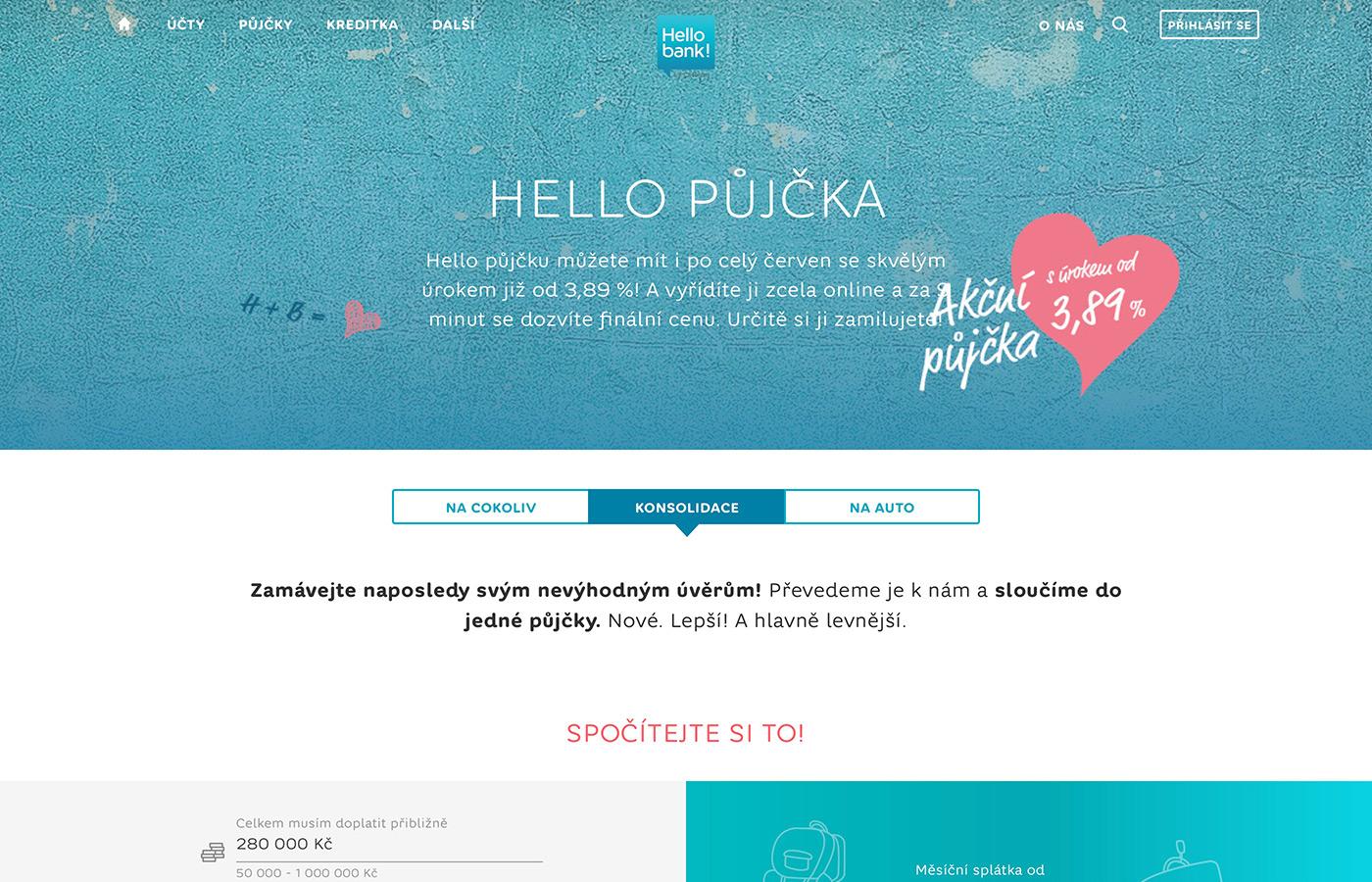 Náhled webových stránek www.hellobank.cz/pujcky/konsolidace