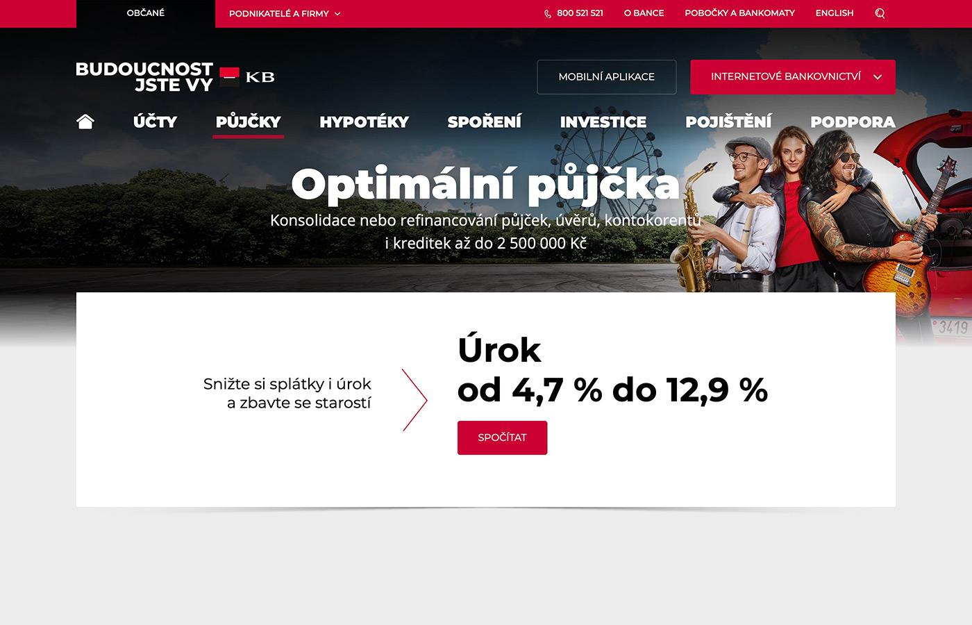 Náhled webových stránek www.kb.cz/cs/obcane/pujcky/optimalni-pujcka