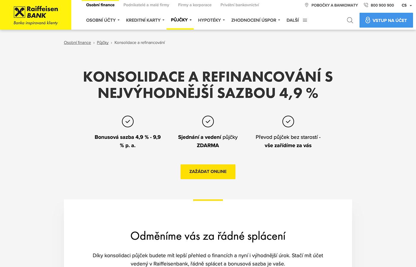 Náhled webových stránek www.rb.cz/osobni/pujcky/prevedeni-a-slouceni-pujcek