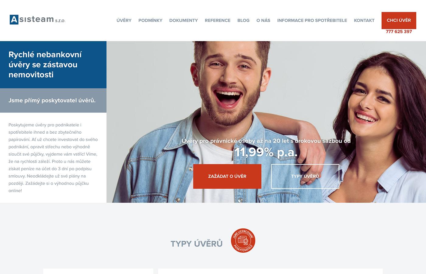 Náhled webových stránek www.asisteam.cz