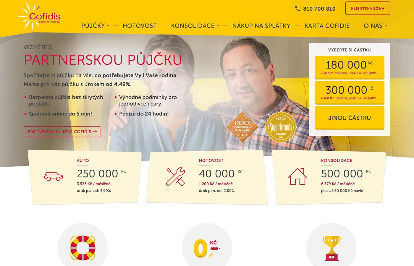 Náhled webových stránek www.cofidis.cz