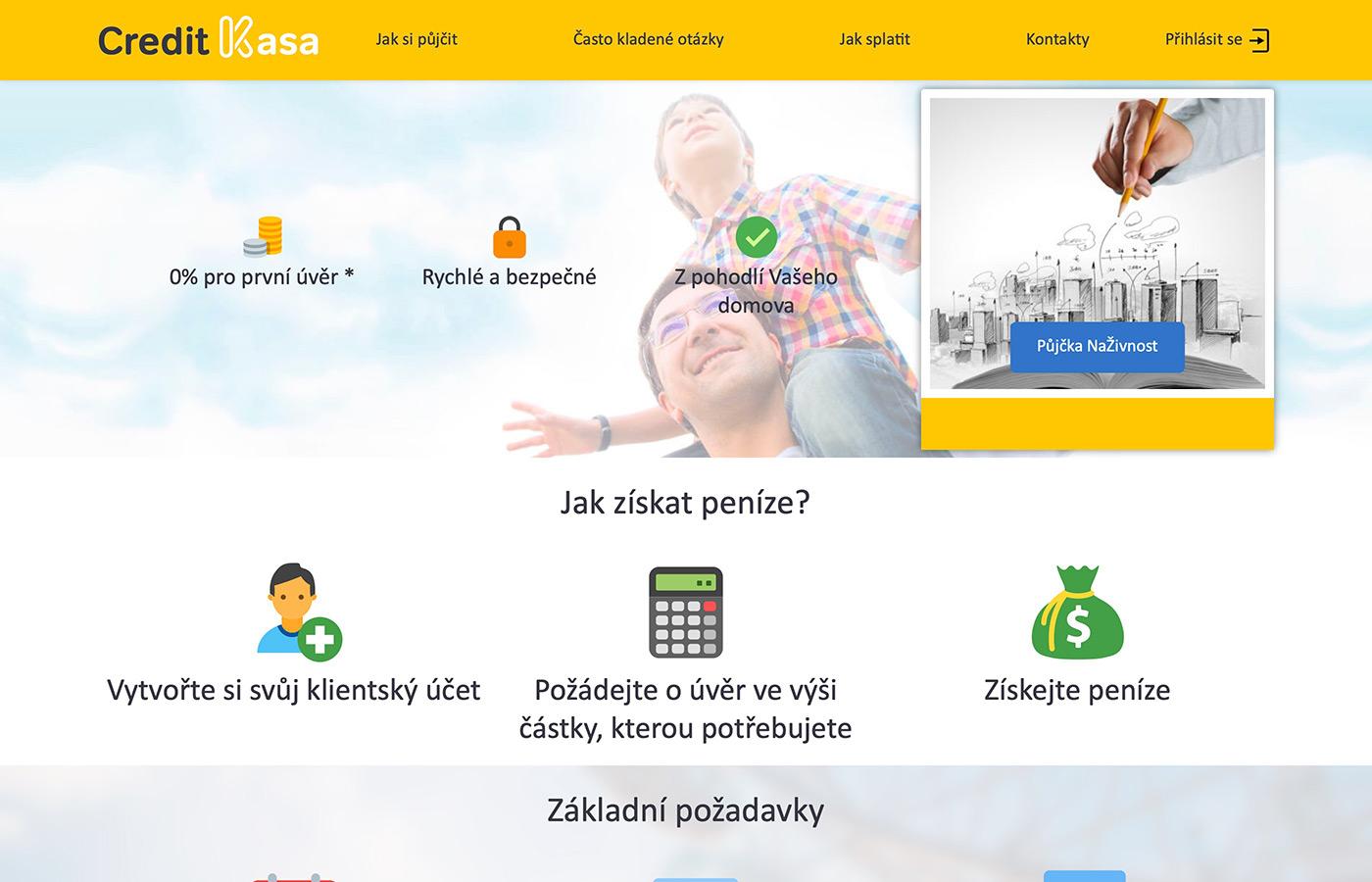 Náhled webových stránek www.creditkasa.com