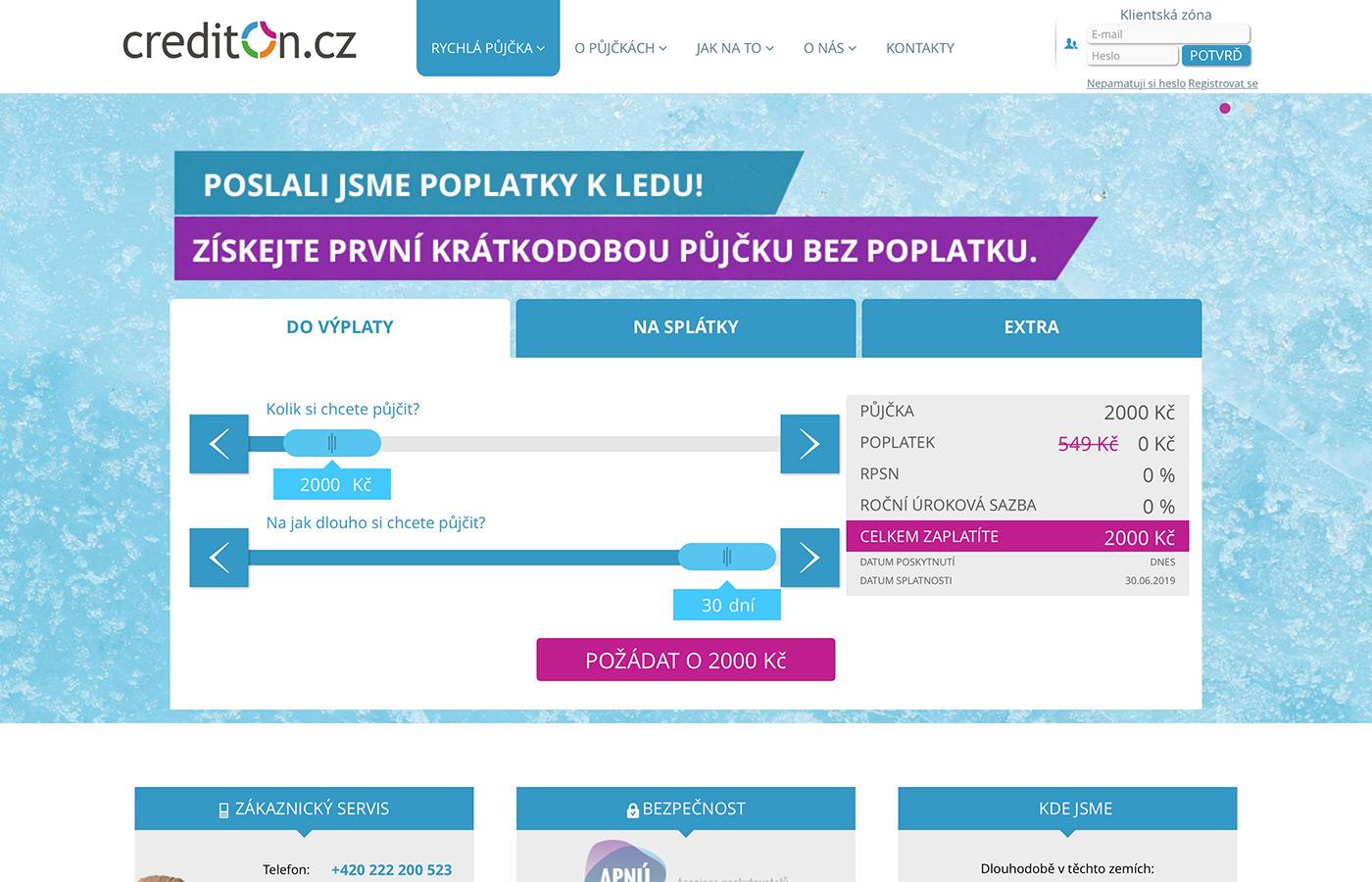 Náhled webových stránek www.crediton.cz