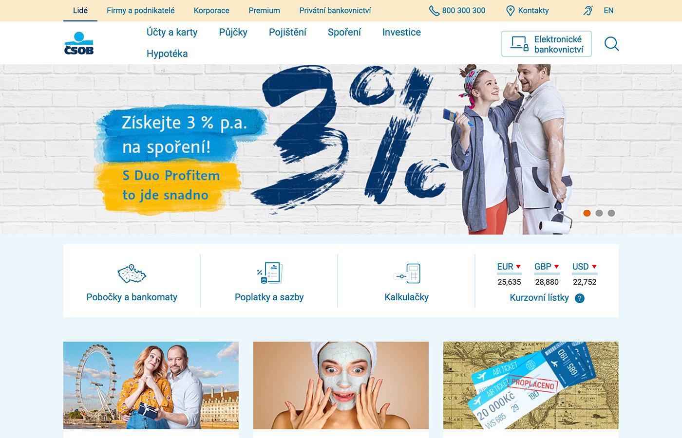 Náhled webových stránek www.csob.cz/portal/lide/pujcky/pujcka-na-cokoliv