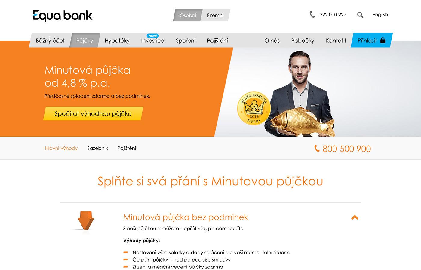 Náhled webových stránek www.equabank.cz/pujcky/pujcka