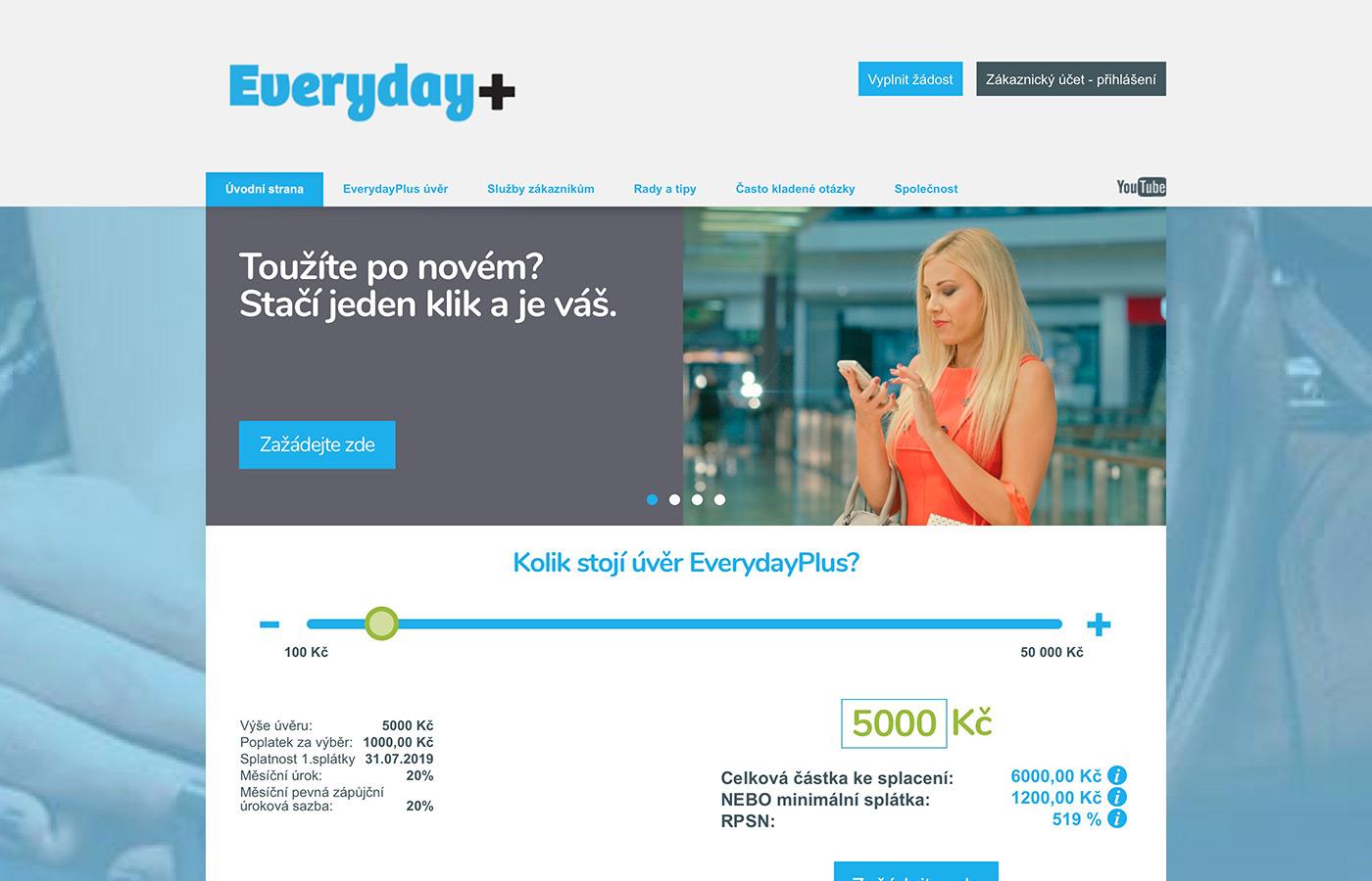 Náhled webových stránek http://www.everydayplus.cz