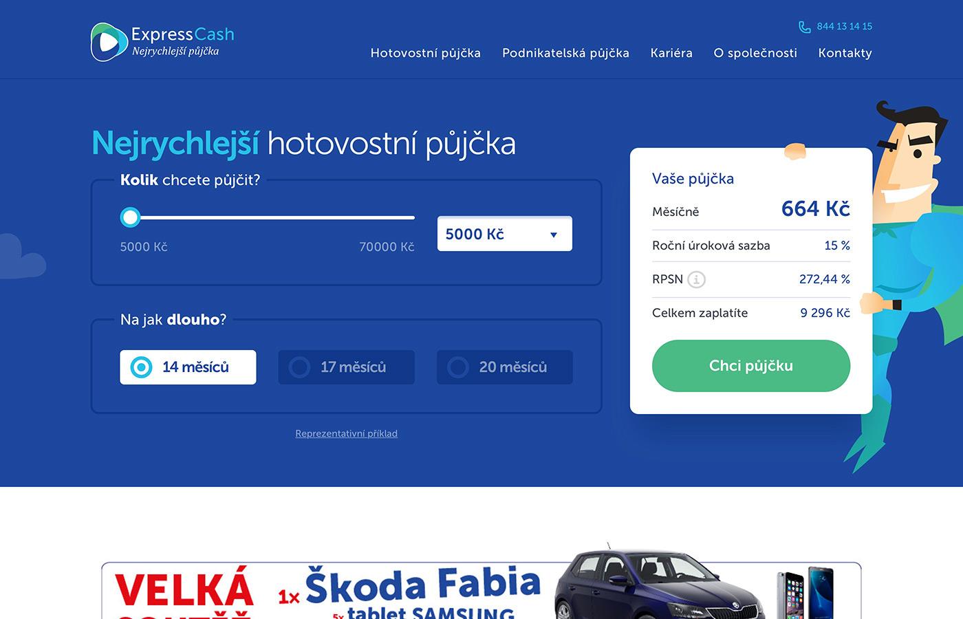 Náhled webových stránek www.expresscash.cz