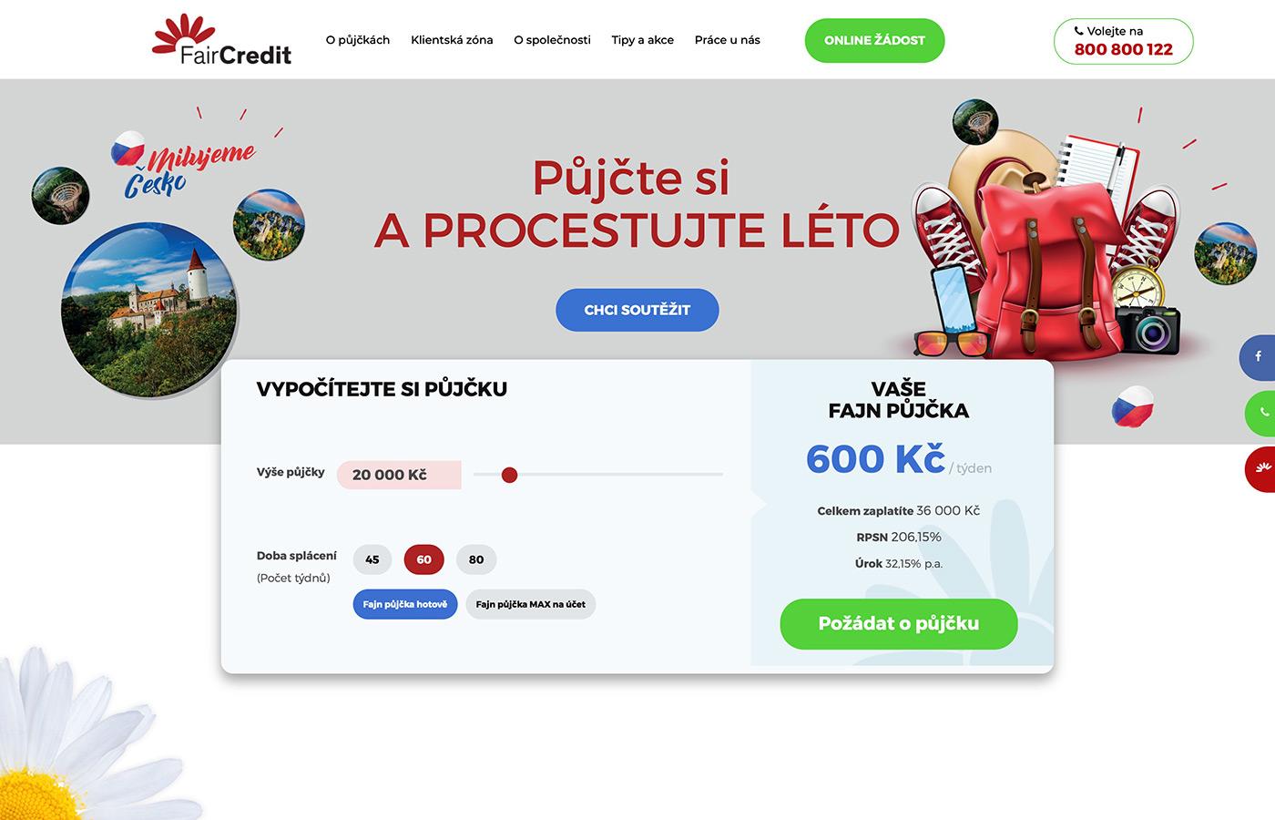 Náhled webových stránek www.faircredit.cz