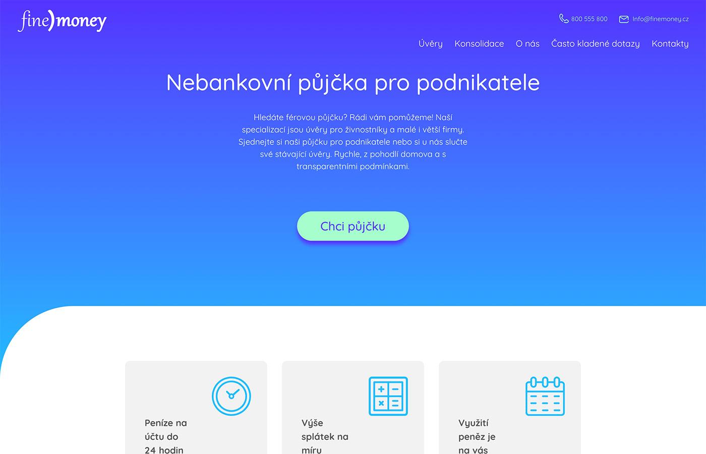 Náhled webových stránek www.finemoney.cz
