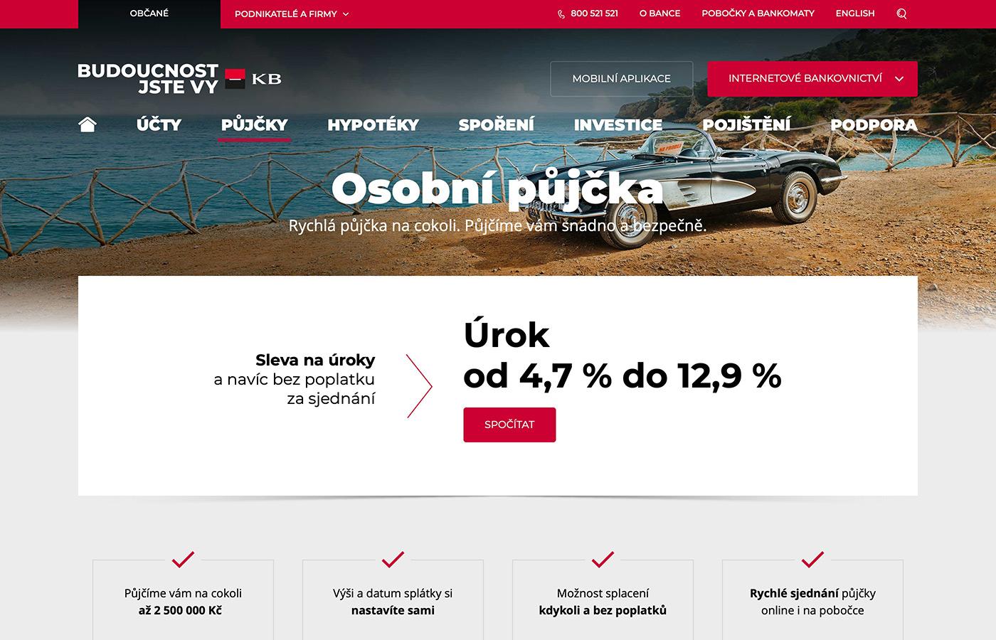 Náhled webových stránek www.kb.cz/cs/obcane/pujcky/osobni-uver