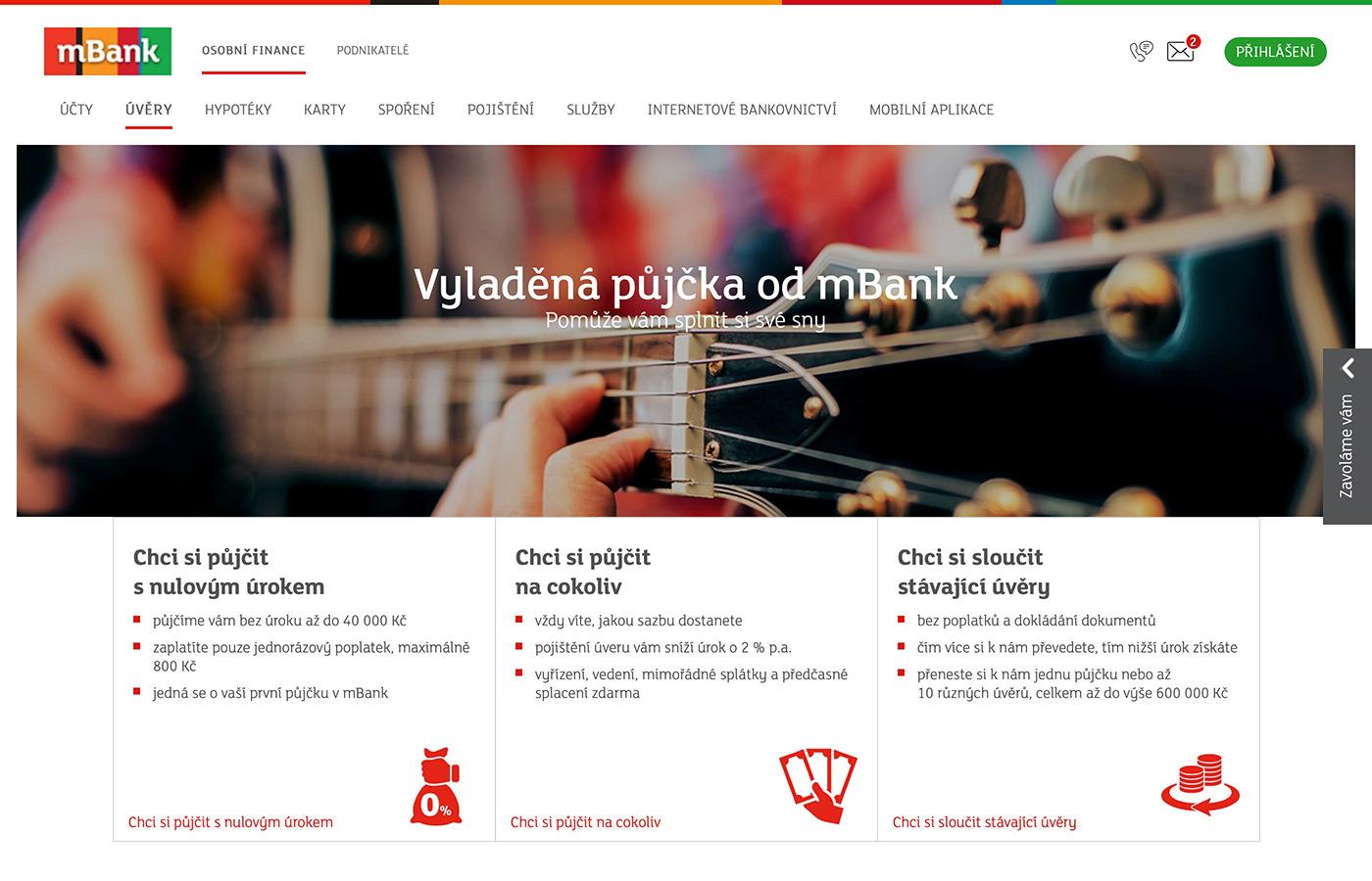 Náhled webových stránek www.mbank.cz/osobni/uvery/mpujcka/
