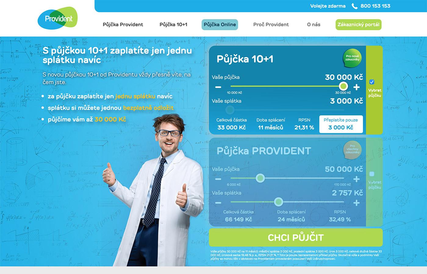 Náhled webových stránek www.provident.cz/pujcky/pujcka-10-1