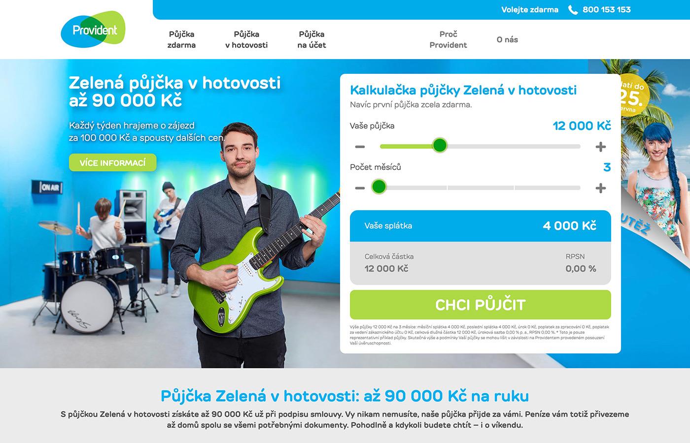 Náhled webových stránek www.provident.cz/pujcky/pujcka-v-hotovosti