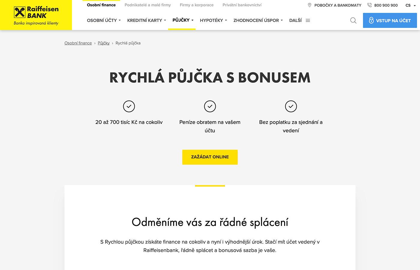 Náhled webových stránek www.rb.cz/osobni/pujcky/rychla-pujcka