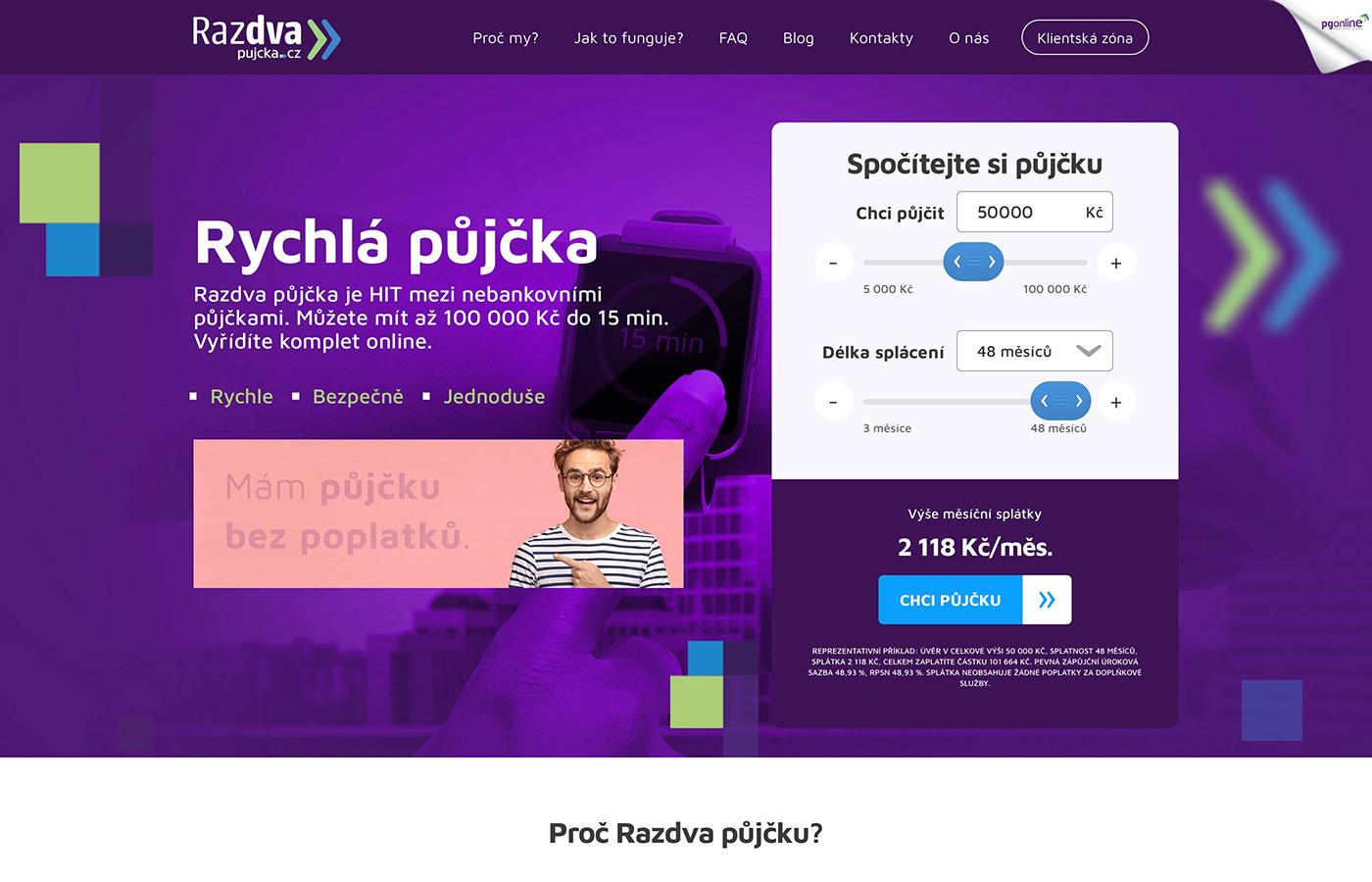 Náhled webových stránek www.razdvapujcka.cz