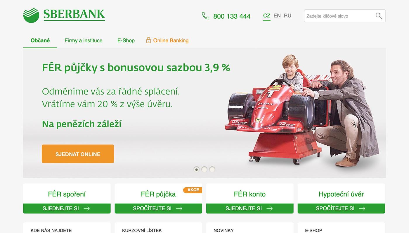 Náhled webových stránek www.sberbankcz.cz/obcane/hotovostni-pujcky