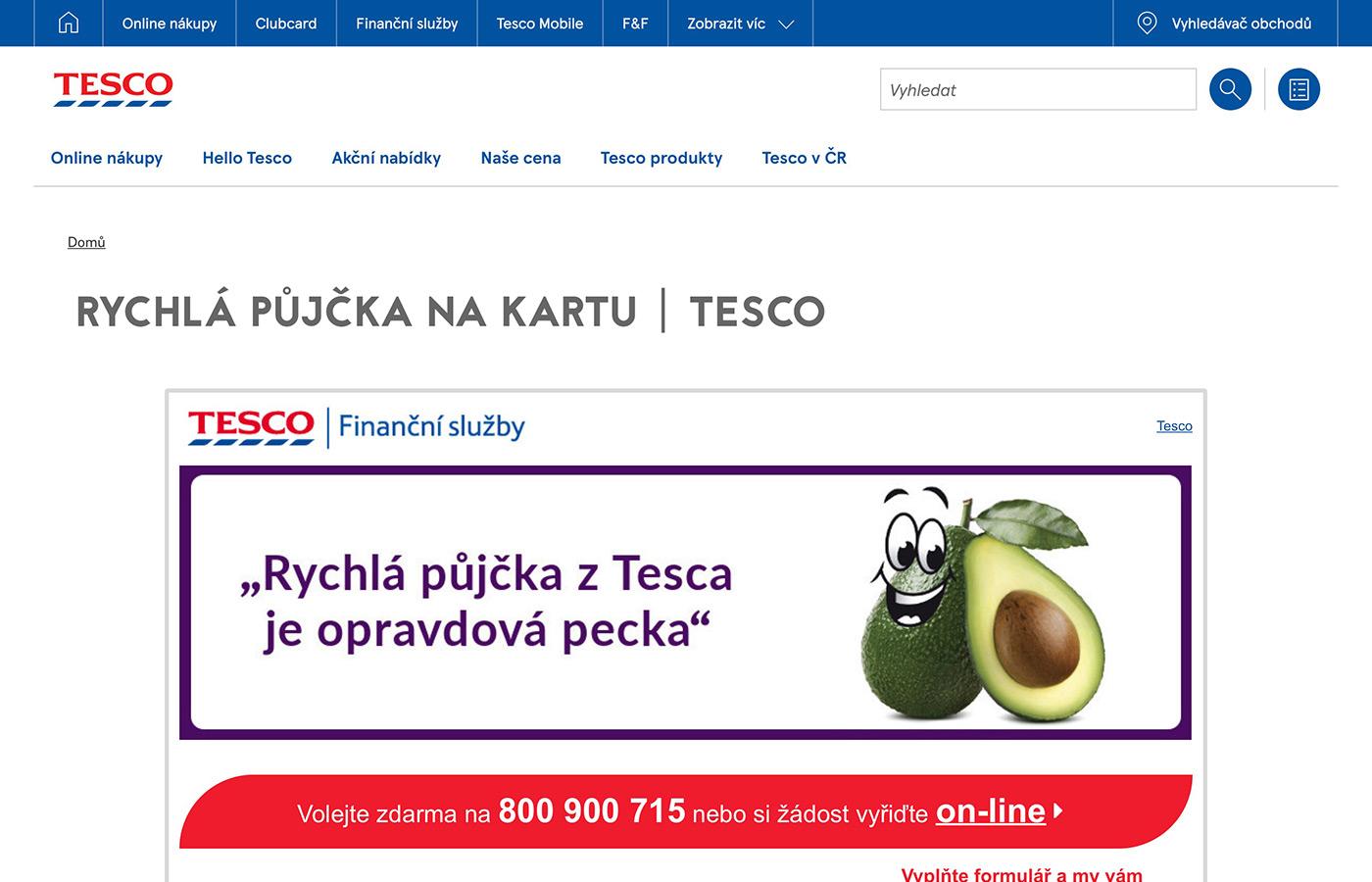 Tesco půjčka až 250 000 Kč s rozumným úrokem - OKfin.cz.