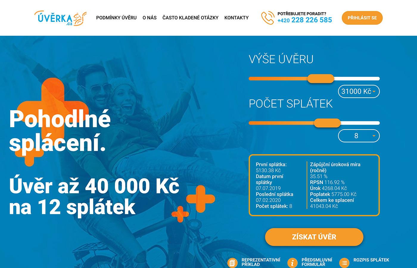Náhled webových stránek www.uverka.cz