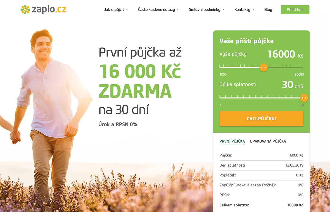 Náhled webových stránek www.zaplo.cz