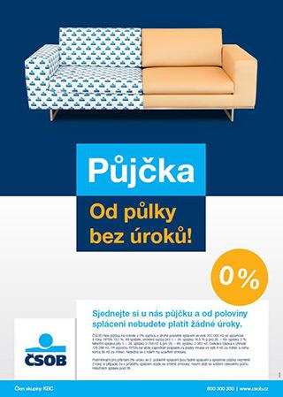 Ukázka reklamního letáku ČSOB