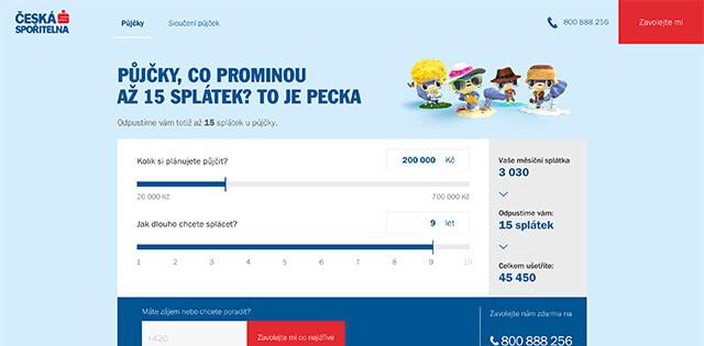 Reklamní nabídka České spořitelny