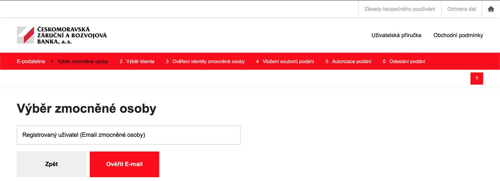 E-podatelna pro podávání žádostí na webu www.cmzrb.cz