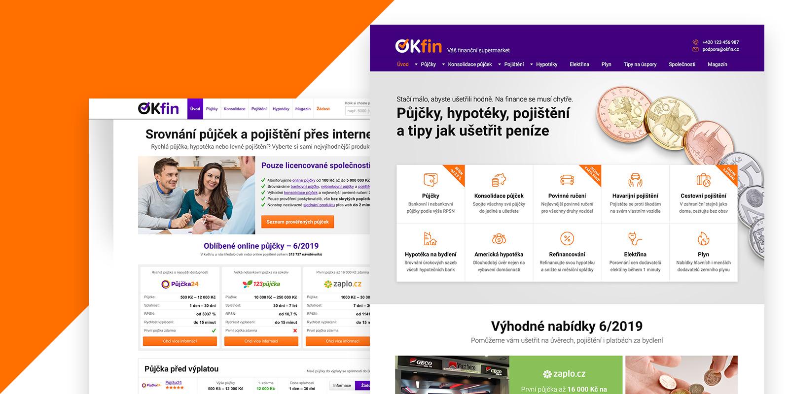 Portál OKfin.cz prošel po 5 letech kompletním redesignem. Co všechno je nové?
