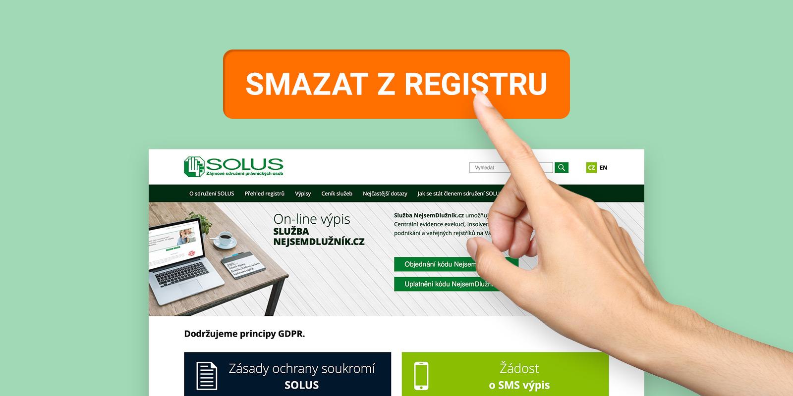 NÁVOD: Jak dosáhnout vymazání záznamu z registru dlužníků.