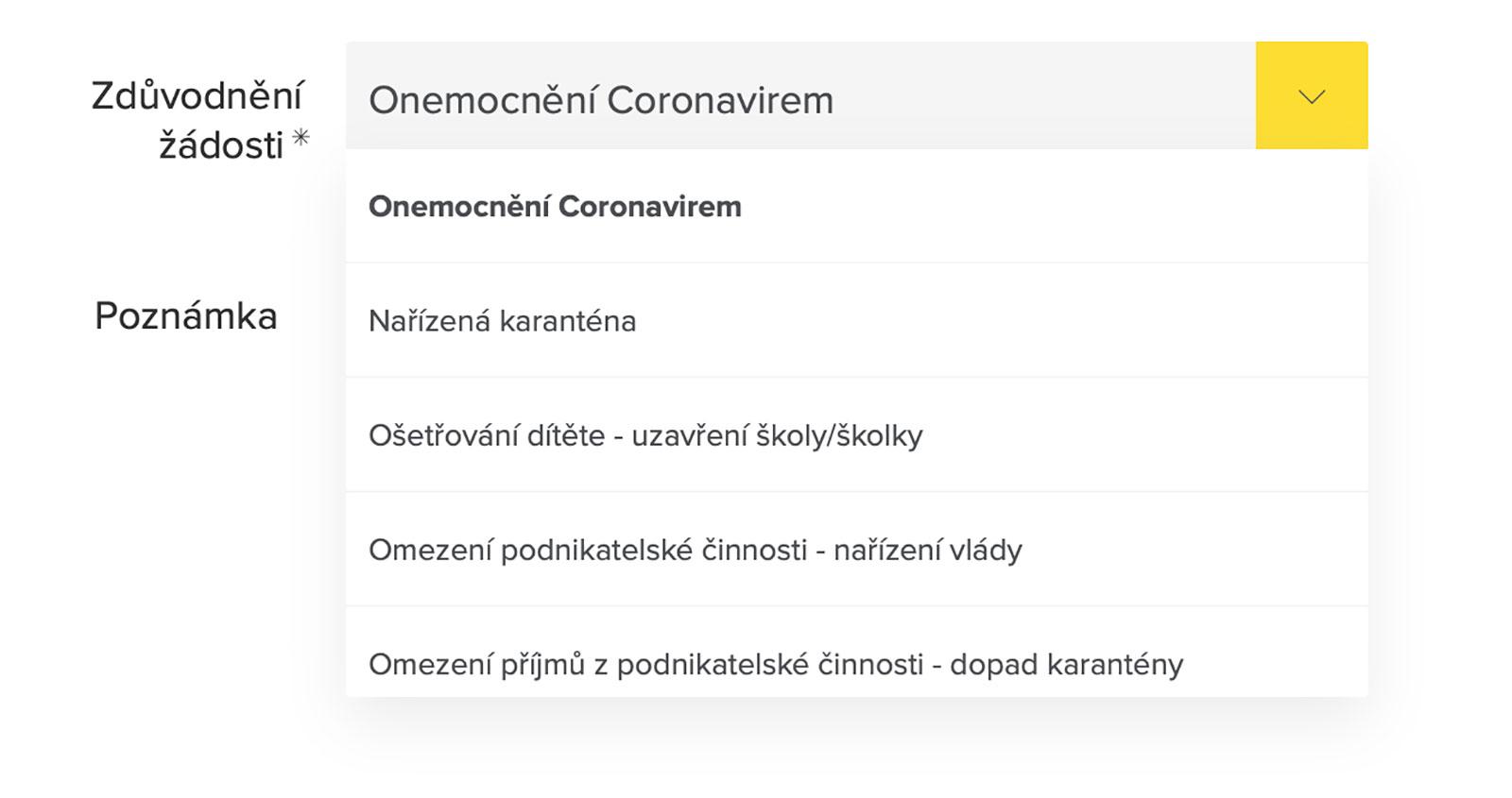 Formulář na stránkách www.rb.cz