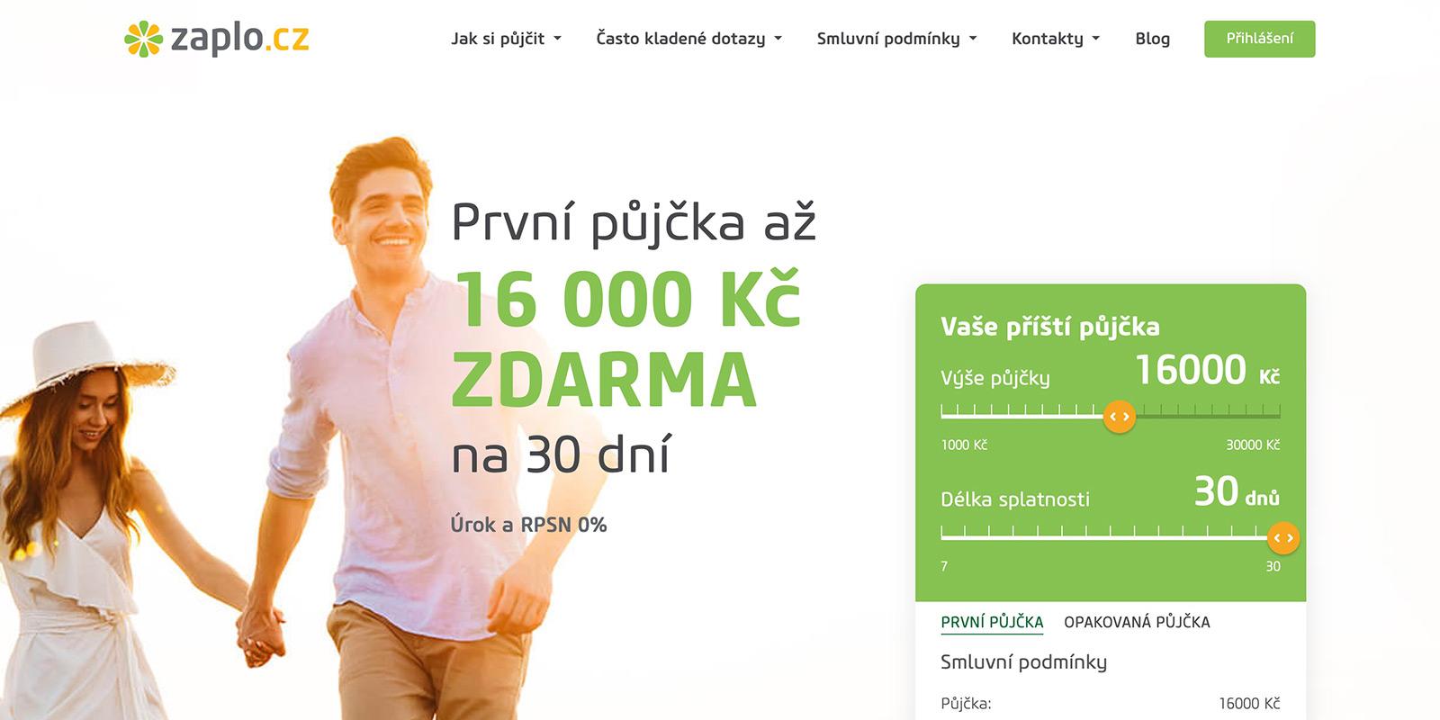 Webové stránky www.zaplo.cz